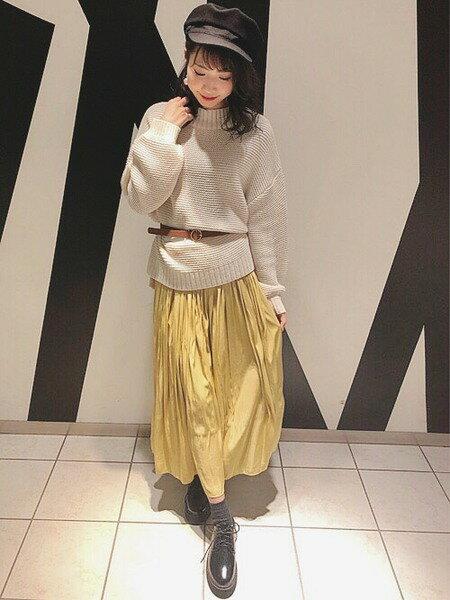 INGNIさんのプリーツスカート/ギャザースカート「ヴィンテージサテンギャザースカート」を使ったコーディネートを紹介します。|ファッション通販楽天ブランドアベニュー(旧スタイライフ Stylife)30182