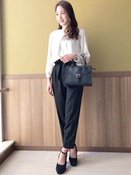 INGNIさんの長袖シャツ「裾タックパー付トロミ/BL」を使ったコーディネートを紹介します。|ファッション通販楽天ブランドアベニュー(旧スタイライフ Stylife)30534