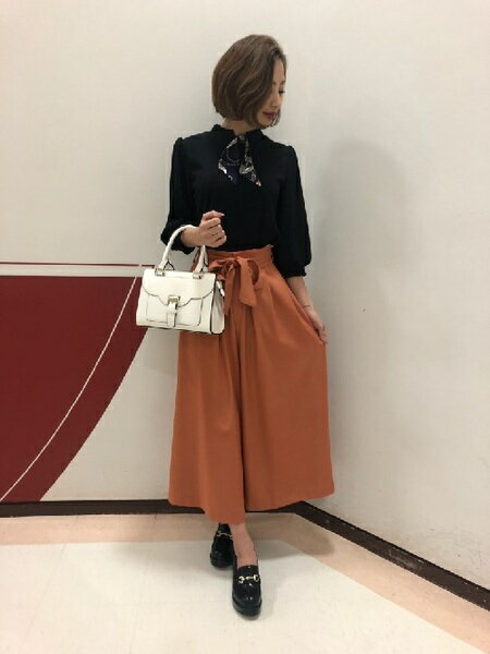 INGNIさんのワイド/バギーパンツ「サッシュ付ツイルHWロング/スカーチョ」を使ったコーディネートを紹介します。|ファッション通販楽天ブランドアベニュー(旧スタイライフ Stylife)31632