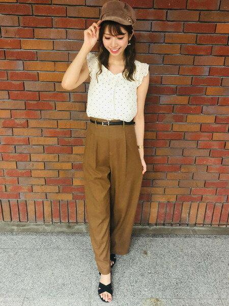 INGNIのビット付きマリンキャスケットを使ったコーディネートを紹介します。|Rakuten Fashion(楽天ファッション/旧楽天ブランドアベニュー)38510