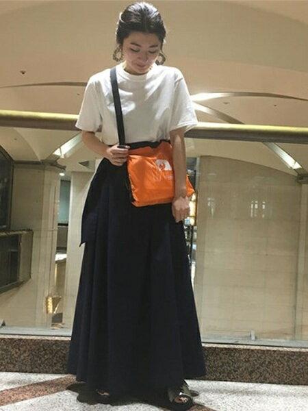ROSE BUDさんのショルダーバッグ「プリントサコッシュバッグ」を使ったコーディネートを紹介します。|ファッション通販楽天ブランドアベニュー(旧スタイライフ Stylife)20015