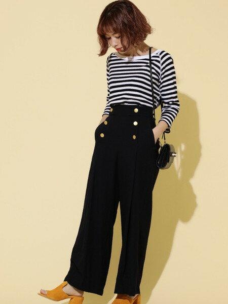 ROSE BUDさんのTシャツ「サーマルボーダーカットソー」を使ったコーディネートを紹介します。|ファッション通販楽天ブランドアベニュー(旧スタイライフ Stylife)21996