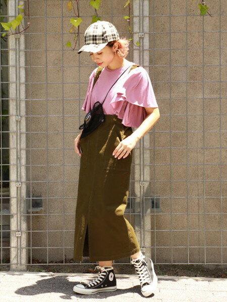 ROSE BUDさんのTシャツ「袖コンシャスカットソー」を使ったコーディネートを紹介します。|ファッション通販楽天ブランドアベニュー(旧スタイライフ Stylife)23156