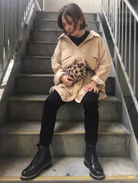 ROSE BUDさんのワンピースその他「コーデュロイワークシャツドレス」を使ったコーディネートを紹介します。|ファッション通販楽天ブランドアベニュー(旧スタイライフ Stylife)26698