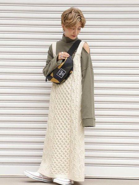 ROSE BUDさんのワンピースその他「ケーブルニットドレス」を使ったコーディネートを紹介します。|ファッション通販楽天ブランドアベニュー(旧スタイライフ Stylife)27192