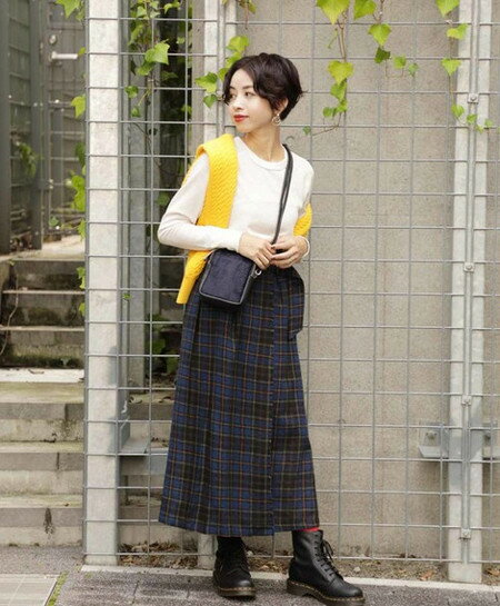ROSE BUDさんのスカートその他「ブリティッシュチェックスカート」を使ったコーディネートを紹介します。|ファッション通販楽天ブランドアベニュー(旧スタイライフ Stylife)27638