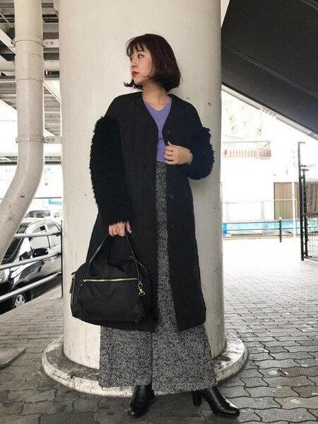 ROSE BUDさんのニットその他「Vネックニット」を使ったコーディネートを紹介します。|ファッション通販楽天ブランドアベニュー(旧スタイライフ Stylife)28254