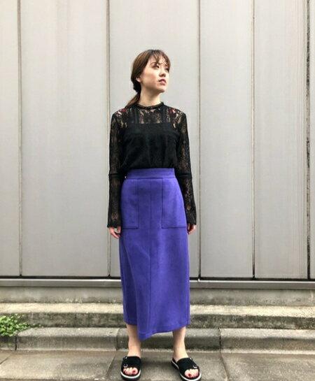 ROSE BUDのナローシルエットスカートを使ったコーディネートを紹介します。|Rakuten Fashion(楽天ファッション/旧楽天ブランドアベニュー)38298