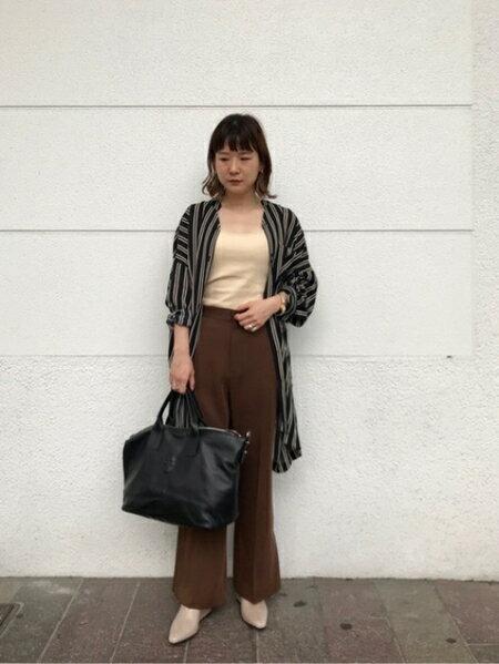 ROSE BUDのバンドカラースキッパーシャツを使ったコーディネートを紹介します。 Rakuten Fashion(楽天ファッション/旧楽天ブランドアベニュー)39176