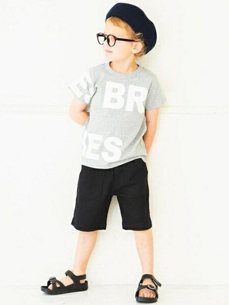 BRANSHESさんのキッズカットソー「半袖ロゴTシャツ」を使ったコーディネートを紹介します。|ファッション通販楽天ブランドアベニュー(旧スタイライフ Stylife)21644