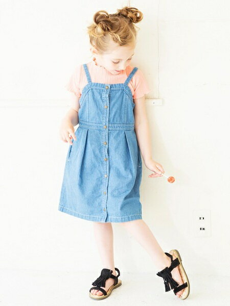 BRANSHESさんのキッズスカート「前ボタンジャンパースカート」を使ったコーディネートを紹介します。|ファッション通販楽天ブランドアベニュー(旧スタイライフ Stylife)21648