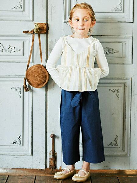 BRANSHESさんのキッズパンツ「ウエストリボンワイドパンツ」を使ったコーディネートを紹介します。|ファッション通販楽天ブランドアベニュー(旧スタイライフ Stylife)31274
