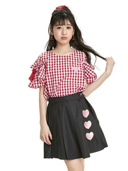 JENNIさんのキッズスカート「トリプルハートプリーツスカート」を使ったコーディネートを紹介します。|ファッション通販楽天ブランドアベニュー(旧スタイライフ Stylife)22531