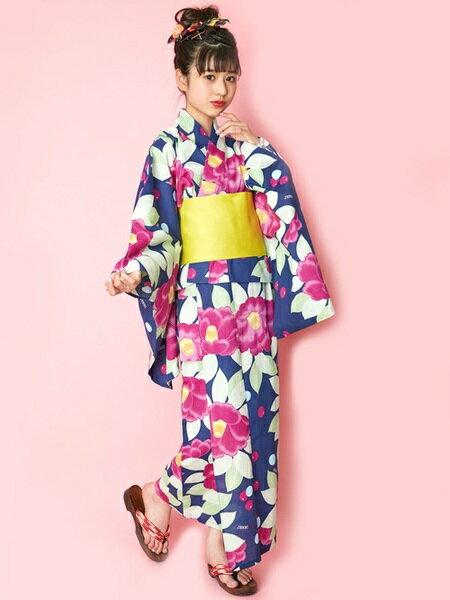 JENNIさんの着物/浴衣「JENNI love/椿柄浴衣セット」を使ったコーディネートを紹介します。|ファッション通販楽天ブランドアベニュー(旧スタイライフ Stylife)23624