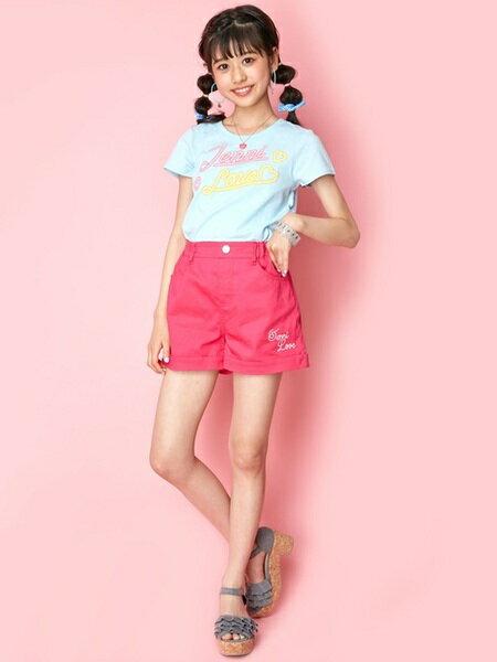 JENNIさんのキッズカットソー「JENNI love/蓄光ネオンロゴTシャツ」を使ったコーディネートを紹介します。|ファッション通販楽天ブランドアベニュー(旧スタイライフ Stylife)23953