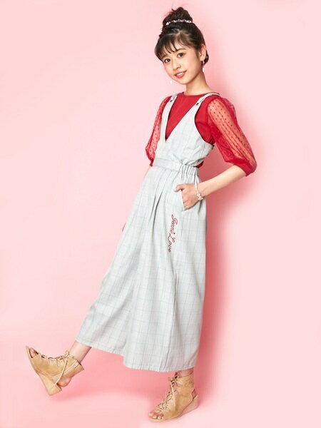 JENNIさんのキッズワンピース「JENNI love/グレンチェックオールインワン」を使ったコーディネートを紹介します。|ファッション通販楽天ブランドアベニュー(旧スタイライフ Stylife)23961