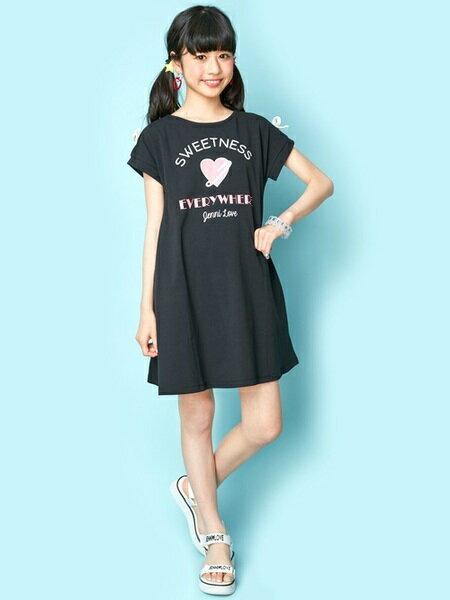 JENNIさんのキッズワンピース「JENNI love/肩リボンTシャツワンピ」を使ったコーディネートを紹介します。|ファッション通販楽天ブランドアベニュー(旧スタイライフ Stylife)23974