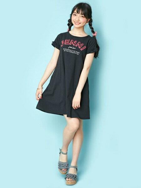JENNIさんのキッズワンピース「JENNI love/袖フリルTシャツワンピ」を使ったコーディネートを紹介します。|ファッション通販楽天ブランドアベニュー(旧スタイライフ Stylife)23976
