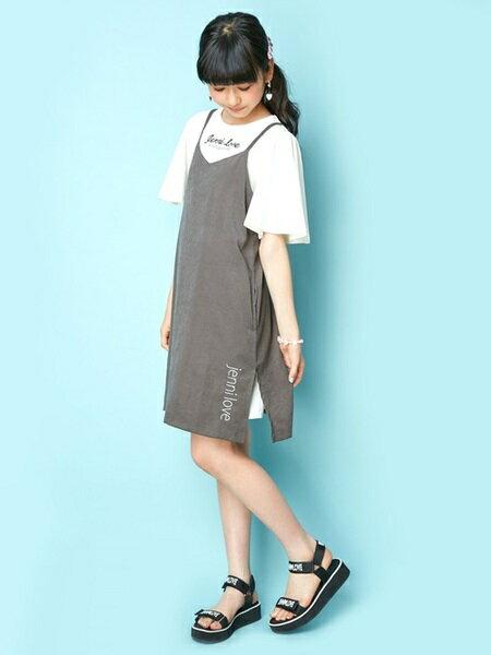 JENNIさんのキッズワンピース「JENNI love/キャミ&半袖ワンピセット」を使ったコーディネートを紹介します。|ファッション通販楽天ブランドアベニュー(旧スタイライフ Stylife)24125
