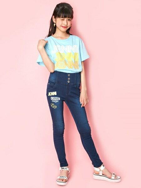 JENNIさんのキッズパンツ「JENNI love/ハイウエストスキニーデニム」を使ったコーディネートを紹介します。|ファッション通販楽天ブランドアベニュー(旧スタイライフ Stylife)24130