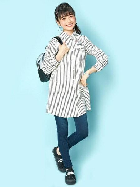 JENNIさんのキッズカットソー「JENNI love/ナンバリングシャツワンピ」を使ったコーディネートを紹介します。|ファッション通販楽天ブランドアベニュー(旧スタイライフ Stylife)25473