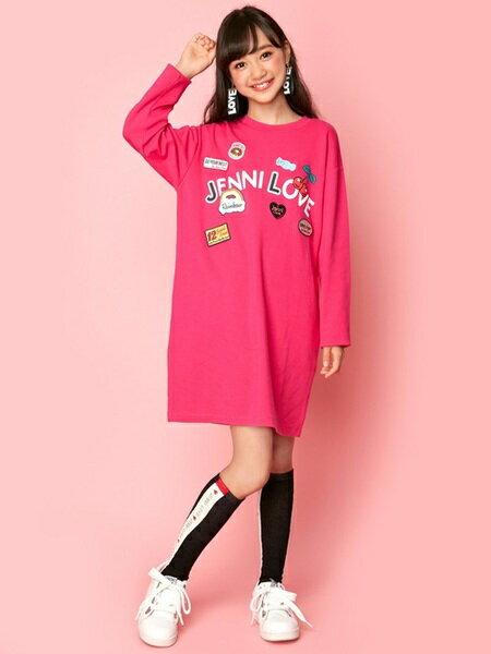 JENNIさんのキッズワンピース「JENNI love/ワッペンいっぱいワンピ」を使ったコーディネートを紹介します。|ファッション通販楽天ブランドアベニュー(旧スタイライフ Stylife)26820