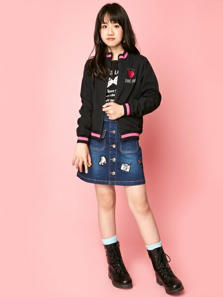 JENNIさんのキッズスカート「JENNI love/デニムワッペンスカート」を使ったコーディネートを紹介します。 ファッション通販楽天ブランドアベニュー(旧スタイライフ Stylife)26822