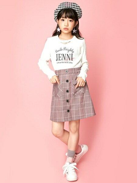 JENNIさんのキッズカットソー「JENNI love/チョーカーロンT」を使ったコーディネートを紹介します。|ファッション通販楽天ブランドアベニュー(旧スタイライフ Stylife)26830