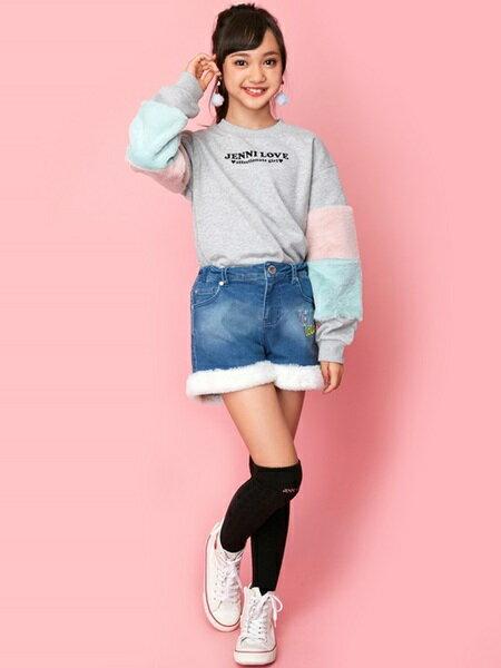 JENNIさんのキッズパンツ「JENNI love/裾ボアデニムショーパン」を使ったコーディネートを紹介します。|ファッション通販楽天ブランドアベニュー(旧スタイライフ Stylife)28559