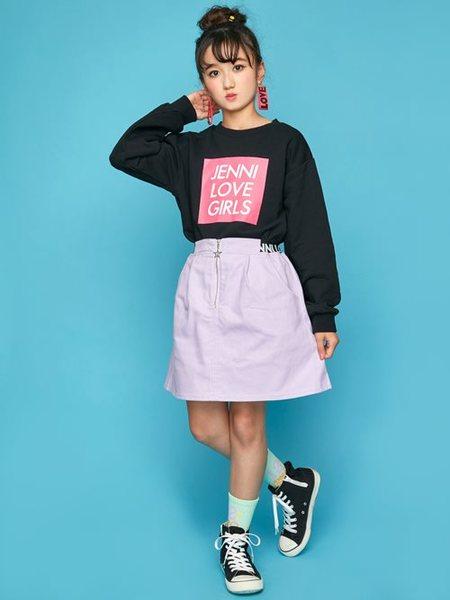 JENNIさんのキッズスカート「JENNI love/ウエストロゴスカート」を使ったコーディネートを紹介します。|ファッション通販楽天ブランドアベニュー(旧スタイライフ Stylife)29437