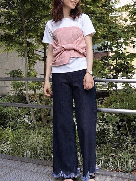MURUAさんのカットソーその他「ビスチェドッキングtee」を使ったコーディネートを紹介します。 ファッション通販楽天ブランドアベニュー(旧スタイライフ Stylife)23005