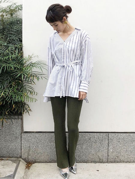 MURUAさんのパンツその他「Fitリブニットパンツ」を使ったコーディネートを紹介します。 ファッション通販楽天ブランドアベニュー(旧スタイライフ Stylife)23019