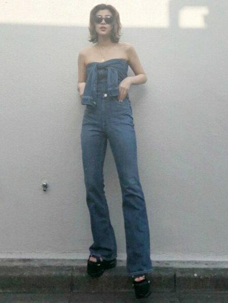 EVRISさんのオールインワン「ビスチェDENIMオールインワン」を使ったコーディネートを紹介します。|ファッション通販楽天ブランドアベニュー(旧スタイライフ Stylife)23120