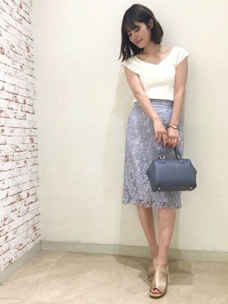 MERCURYDUOさんのタイトスカート「ケミカルレースタイトスカート」を使ったコーディネートを紹介します。|ファッション通販楽天ブランドアベニュー(旧スタイライフ Stylife)23728