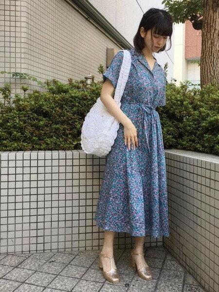 merry jennyさんのトートバッグ「クロシェトートbag」を使ったコーディネートを紹介します。|ファッション通販楽天ブランドアベニュー(旧スタイライフ Stylife)24213