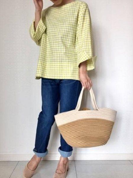 Petit Honfleurさんの七分袖シャツ「【エーゲ海綿麻シリーズ】フレアブラウス」を使ったコーディネートを紹介します。|ファッション通販楽天ブランドアベニュー(旧スタイライフ Stylife)23794