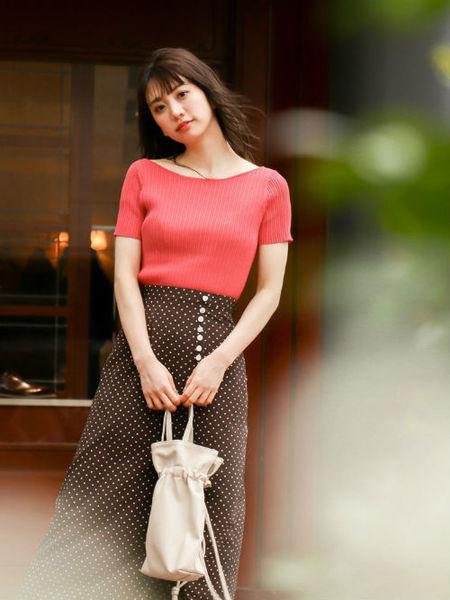 PROPORTION BODY DRESSINGさんのスカートその他「デシンドットマキシスカート」を使ったコーディネートを紹介します。|ファッション通販楽天ブランドアベニュー(旧スタイライフ Stylife)34017