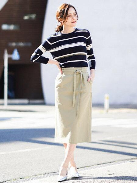 MK MICHEL KLEINさんのスカートその他「【洗える】タイトシルエットスカート」を使ったコーディネートを紹介します。 ファッション通販楽天ブランドアベニュー(旧スタイライフ Stylife)31697