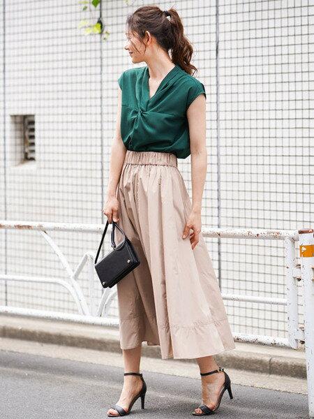 MK MICHEL KLEINの【洗える】ロングギャザースカートを使ったコーディネートを紹介します。|Rakuten Fashion(楽天ファッション/旧楽天ブランドアベニュー)35186