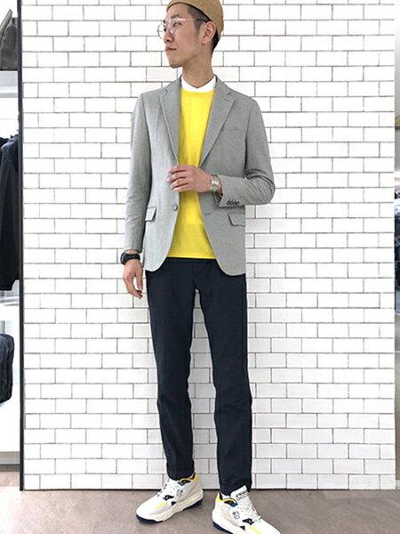 ABAHOUSEの【Recency of Mine/セットアップ対応】ナイロンデニムライク2WAYを使ったコーディネートを紹介します。|Rakuten Fashion(楽天ファッション/旧楽天ブランドアベニュー)32332