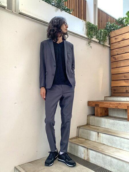 5351POUR LES HOMMESのモザイクリンクスVネックカットソーを使ったコーディネートを紹介します。|Rakuten Fashion(楽天ファッション/旧楽天ブランドアベニュー)41661