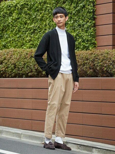 UNITED ARROWSさんのフルレングス「UAST ツープリーツ ワイド パンツ」を使ったコーディネートを紹介します。|ファッション通販楽天ブランドアベニュー(旧スタイライフ Stylife)32093