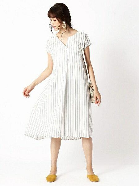 COMME CA ISMの<人気商品・アッパッパ>ストライプアッパッパワンピース(ONIGIRI)を使ったコーディネートを紹介します。|Rakuten Fashion(楽天ファッション/旧楽天ブランドアベニュー)35783