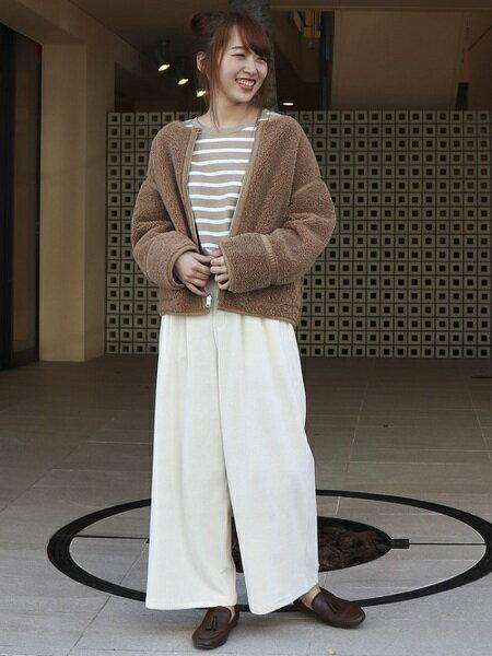 COMME CA ISMの《リバーシブル》ボアブルゾン(ONIGIRI)を使ったコーディネートを紹介します。|Rakuten Fashion(楽天ファッション/旧楽天ブランドアベニュー)42665