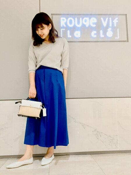 Rouge vif la cleのハイウエストポケット付きスカートを使ったコーディネートを紹介します。|Rakuten Fashion(楽天ファッション/旧楽天ブランドアベニュー)31685