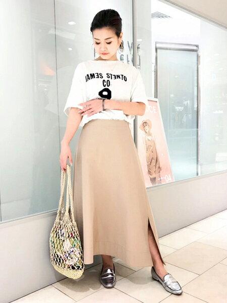 Rouge vif la cleさんのフレアスカート「チノスカート」を使ったコーディネートを紹介します。 ファッション通販楽天ブランドアベニュー(旧スタイライフ Stylife)33303