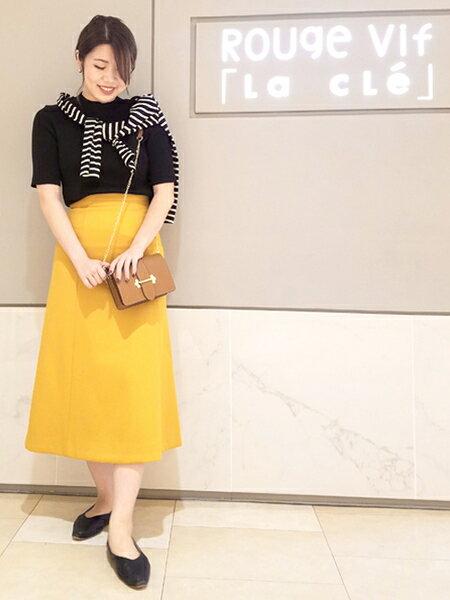 Rouge vif la cleの5分袖リブニットを使ったコーディネートを紹介します。|Rakuten Fashion(楽天ファッション/旧楽天ブランドアベニュー)39792