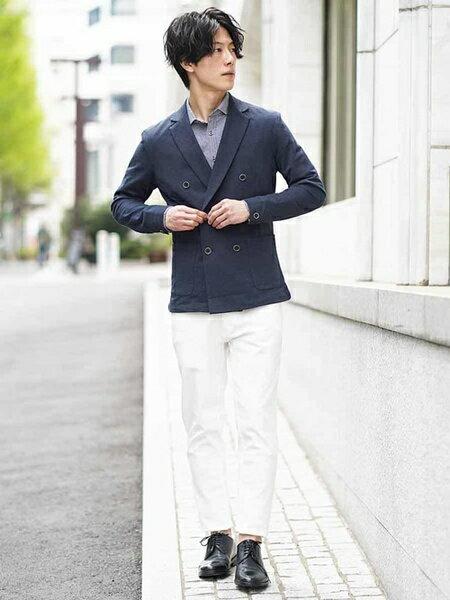MK MICHEL KLEIN hommeのシャツ(クールマックスストライプ)を使ったコーディネートを紹介します。|Rakuten Fashion(楽天ファッション/旧楽天ブランドアベニュー)39998