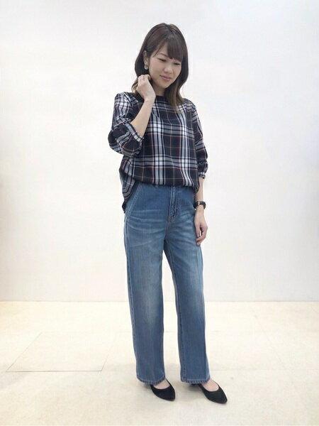 CLEAR IMPRESSIONのパフスリーブチェック柄ブラウス《POLKA》【UPPLUS10月号掲載】を使ったコーディネートを紹介します。|Rakuten Fashion(楽天ファッション/旧楽天ブランドアベニュー)38882