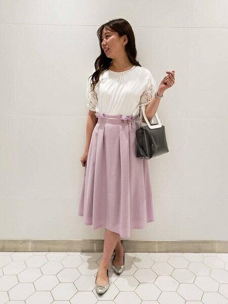 清楚フェミニンな婚活の服装 ef-deのファッションコーディネート♡